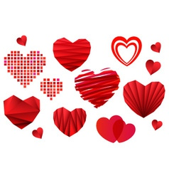 Valentines Day Heart Collection vector image vector image