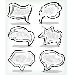 Various grey dialog vector image