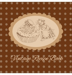 Vintage mouse and cake for your design vector image vector image