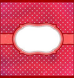 Vintage polka dot frame vector image vector image