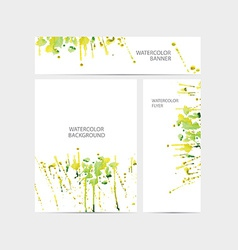 visual corporate identity with paint watercolor vector image vector image