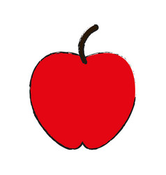 Whole red apple fruit icon imag vector