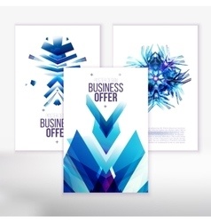 Blue business covers vector image