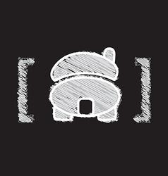 home icon sketch design vector image