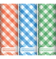 Gingham multicoloured vector