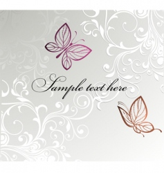 Butterfly card design vector