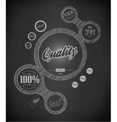 Chalk design vector