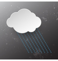 Rainy cloud icon vector