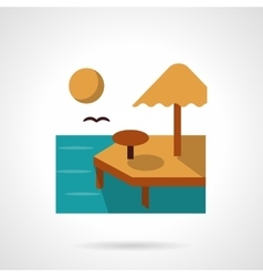 Summer rest flat color icon vector