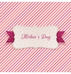 Mothers day holiday banner with festive ribbon vector