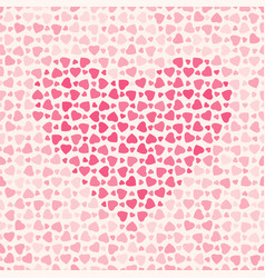 abstract pattern with hearts on light background vector image vector image