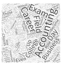 Accounting auditing careers word cloud concept vector