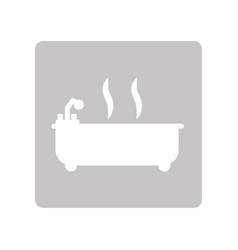 Bathtub clean symbol vector