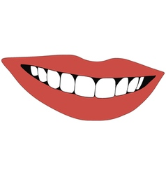 Beautiful smile teeth vector