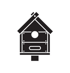 bird nesting box icon vector image vector image