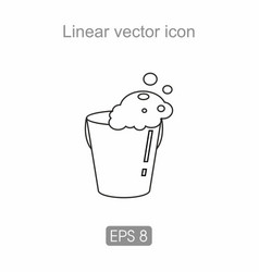 bucket with water icon vector image
