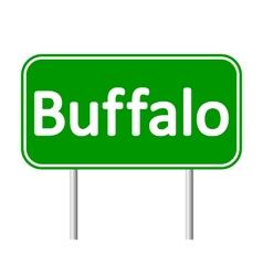 Buffalo green road sign vector