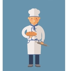 cooking chef vector image vector image
