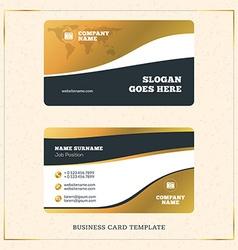 Creative Golden Business Visiting Card Design vector image