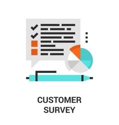 customer survey icon vector image