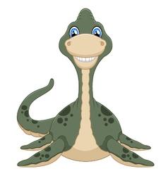 Cute plesiosaurus cartoon vector image