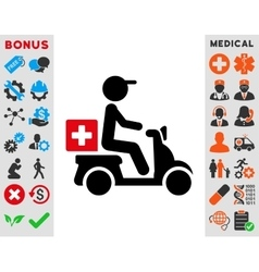 Drugs Motorbike Delivery Icon vector image vector image