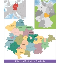 Free state of thuringia vector