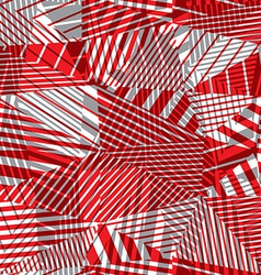 Geometric lined seamless pattern vector image vector image