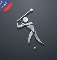 Golf icon symbol 3d style trendy modern design vector