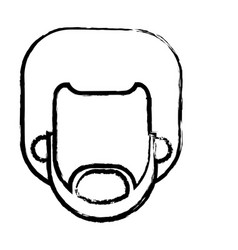 Head beard man male afro person sketch vector