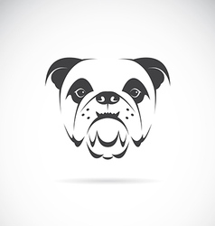 Image of an dog face vector