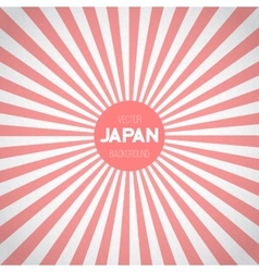 Japan Flag Sunburst Background Asian vector image