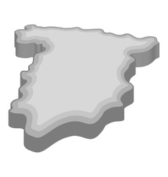 Map of Spain icon gray monochrome style vector image vector image