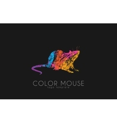 Mouse logo Color mouse Little mouse Creative vector image