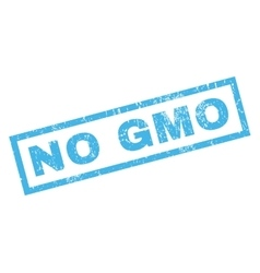 No gmo rubber stamp vector