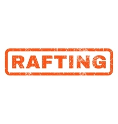 Rafting rubber stamp vector