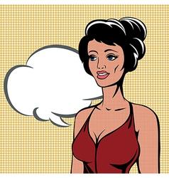 Retro halftone woman vector image vector image