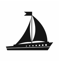 Sailing ship icon simple style vector