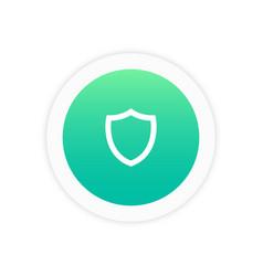 shield icon sign vector image