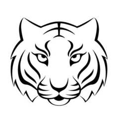 Tiger icon isolated on a white background Tiger vector image