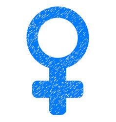 Venus symbol grunge icon vector