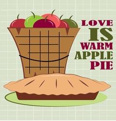 Warm pie vector