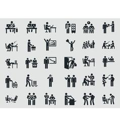 Weekdays office worker Stick figure vector image vector image