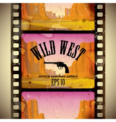Western film strip vector