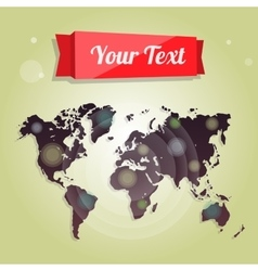 World map for advertising website design vector image vector image