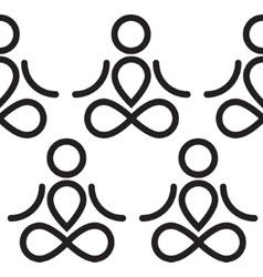 Yoga seamless background vector