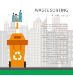 Plastic waste sorting flat concept vector