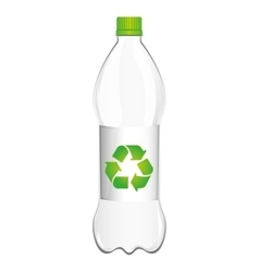 Bottle plastic recycle symbol vector