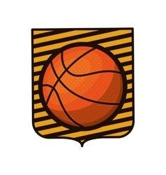 Basketball tournament emblem with ball vector