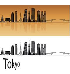 tokyo v3 skyline vector image